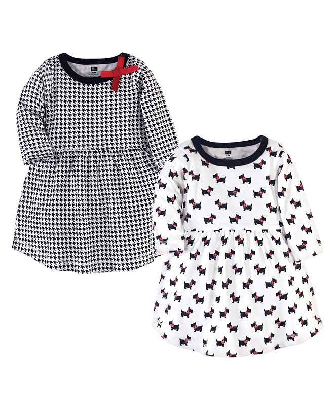 Hudson Baby Baby Girl Cotton Dresses, Set of 2