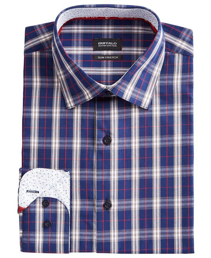 Buffalo David Bitton - Men's Slim-Fit Yarn-Dyed Plaid Dress Shirt