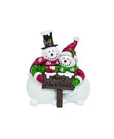 Trans Pac Resin White Christmas Merry Snowman