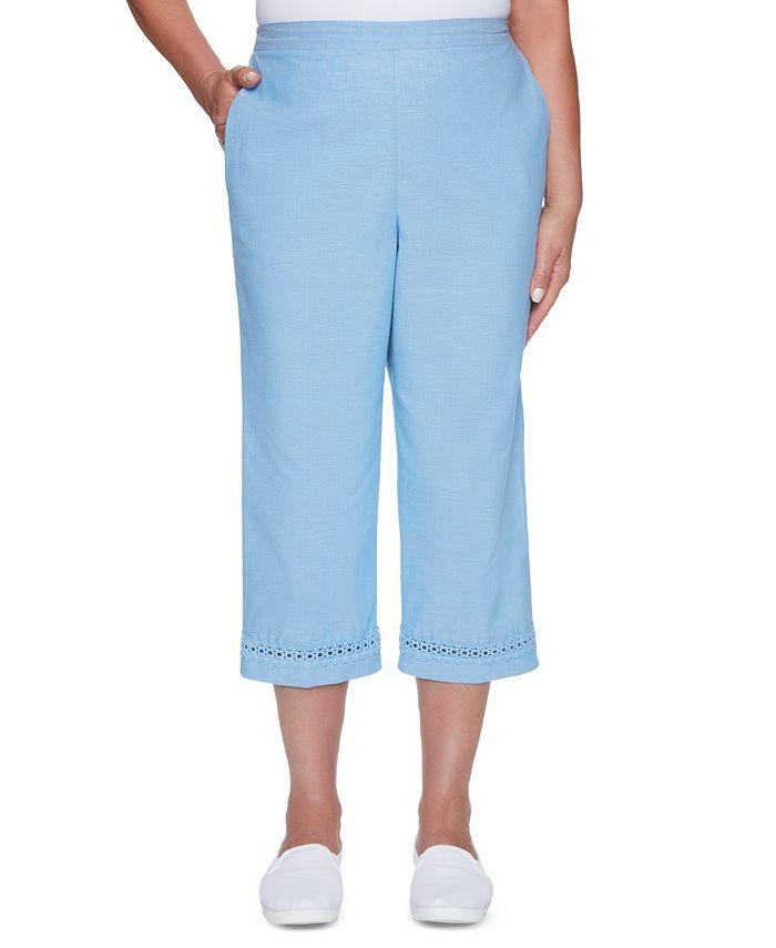 Alfred Dunner - Crochet-Hem Pull-On Capri Pants
