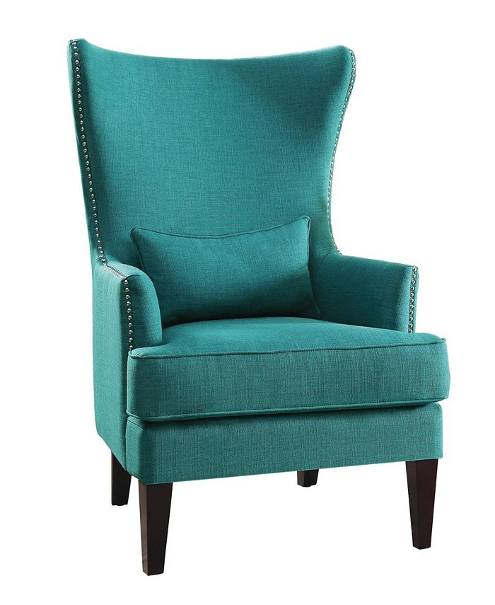 Homelegance - Ceylon Accent Wingback Chair, Quick Ship