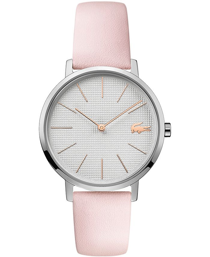 Lacoste - Women's Moon Pink Leather Strap Watch 35mm
