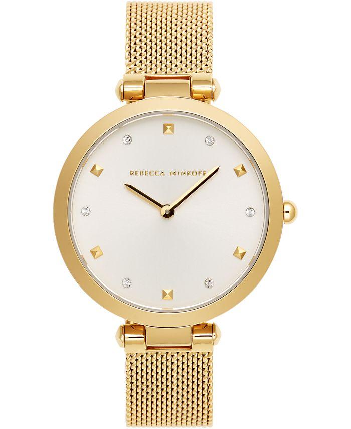 Rebecca Minkoff - Women's Nina Gold-Tone Stainless Steel Mesh Bracelet Watch 33mm