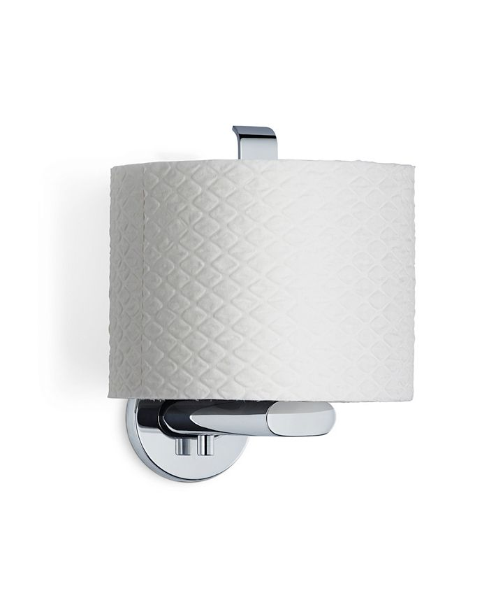 blomus - Wall Mounted Toilet Paper Holder - Vertical - Polished - Areo