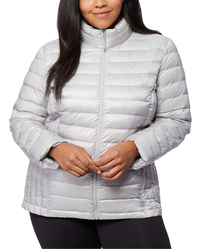32 Degrees - Plus Size Packable Puffer Coat