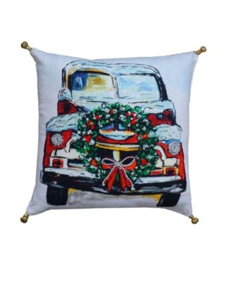 Christmas Holiday Car Pillow Cover