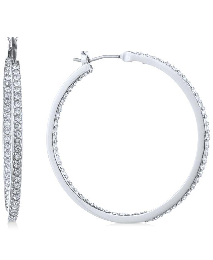 Givenchy - Pavé Medium Hoop Earrings