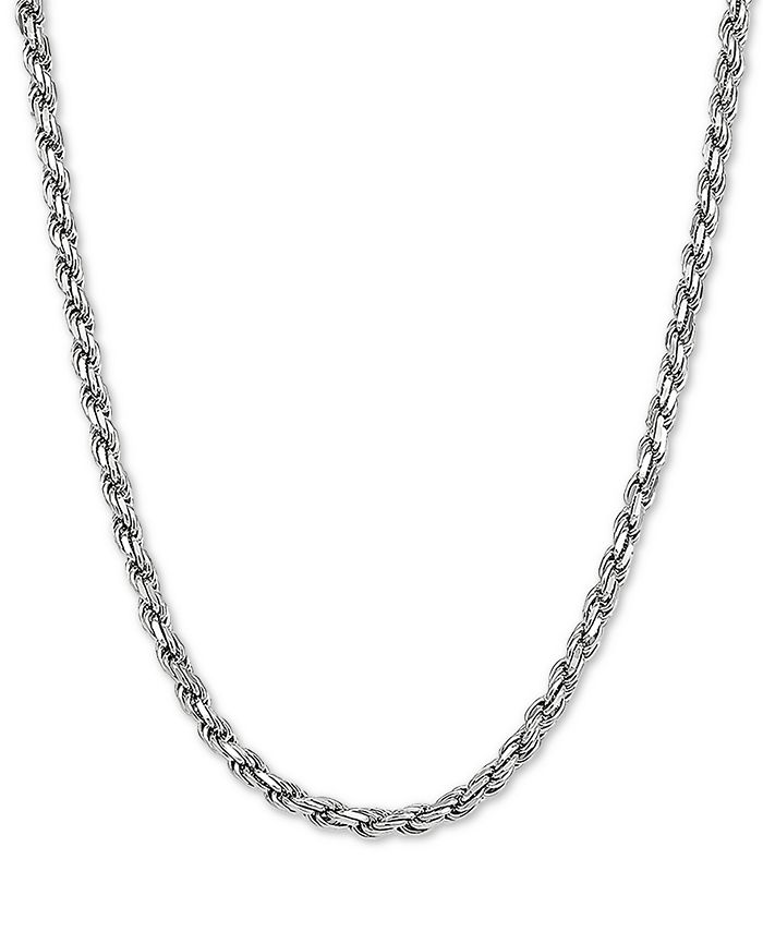 "Macy's - Rope Link 22"" Chain Necklace in Sterling Silver"