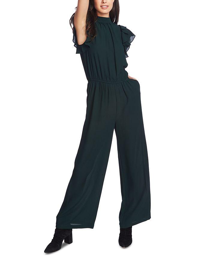 1.STATE - V-Neck Flutter-Sleeve Jumpsuit