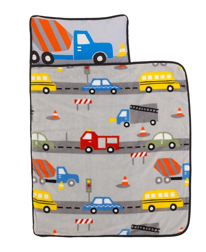 Everything Kids - Construction Nap Mat with Pillow and Blanket