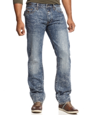 Rocawear Jeans Gyromic Straight Fit Acid Wash Jeans