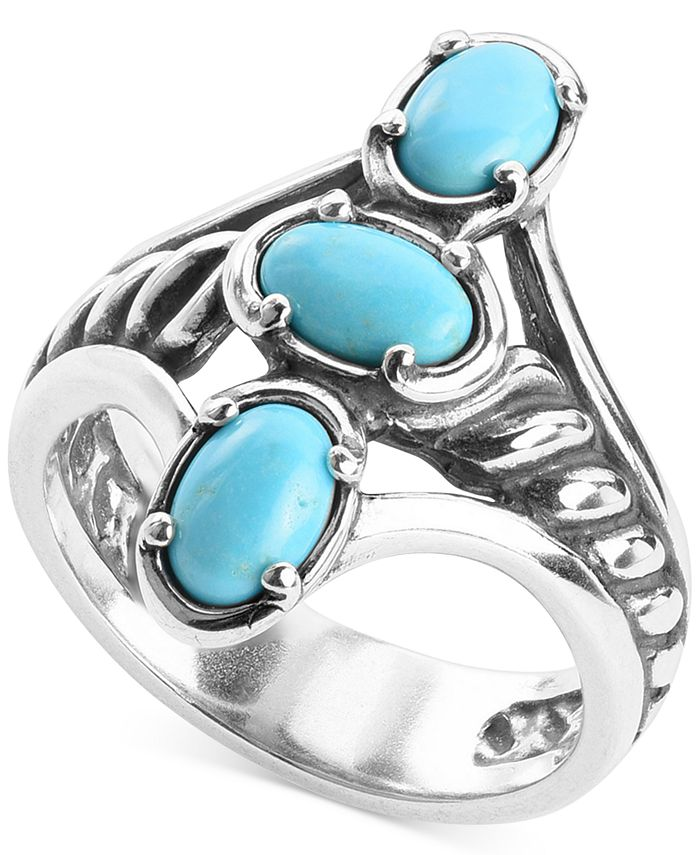 Carolyn Pollack - Turquoise Statement Ring in Sterling Silver