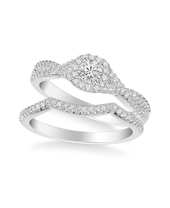 Macy's - Diamond Twist Bridal Set (3/4 ct. t.w.) in 14k White, Yellow or Rose Gold