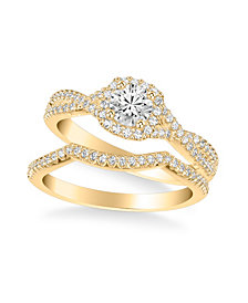 Diamond Twist Bridal Set (1 ct. t.w.) in 14k White, Yellow or Rose Gold