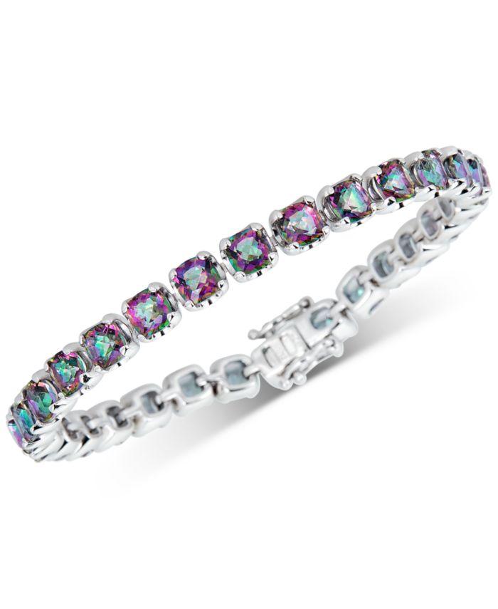 Macy's Mystic Quartz Cushion Link Bracelet (15 ct. t.w.) in Sterling Silver & Reviews - Bracelets - Jewelry & Watches - Macy's