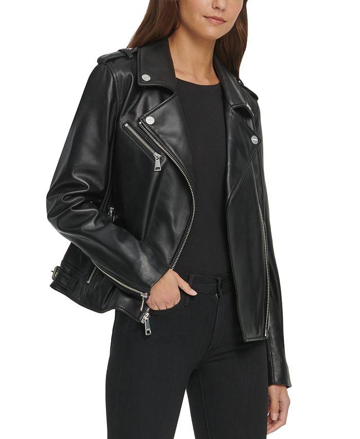 DKNY - Leather Moto Jacket