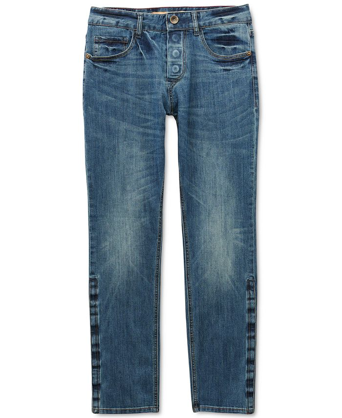 Seven7 - Men's Belmore Slim Straight-Fit Power Stretch Jeans with Magnetic Fly and Stay-Put Closure