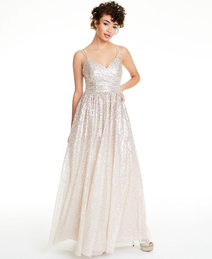 Eliza J - Ombré Sequined Gown