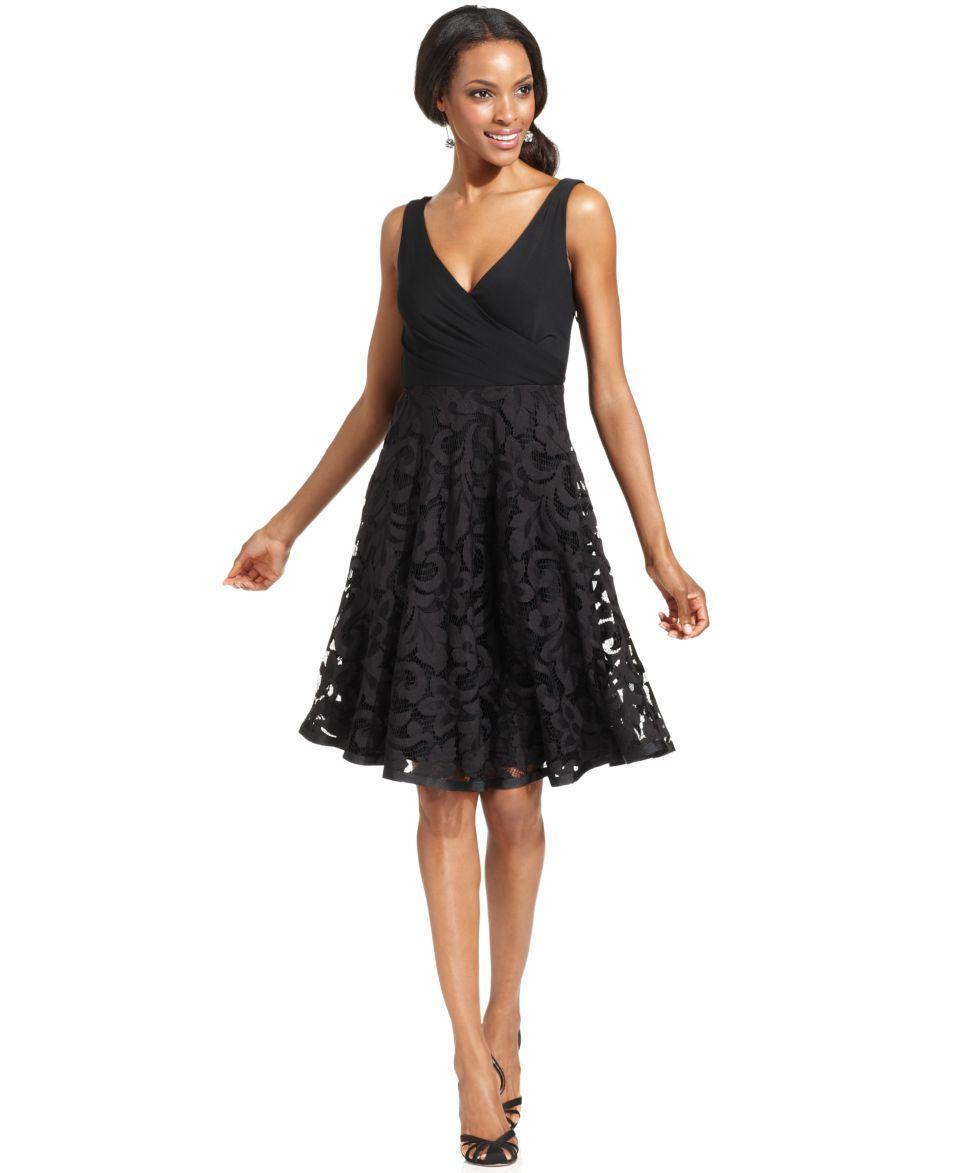 Isaac Mizrahi Dress, Sleeveless Surplice Lace   Dresses   Women