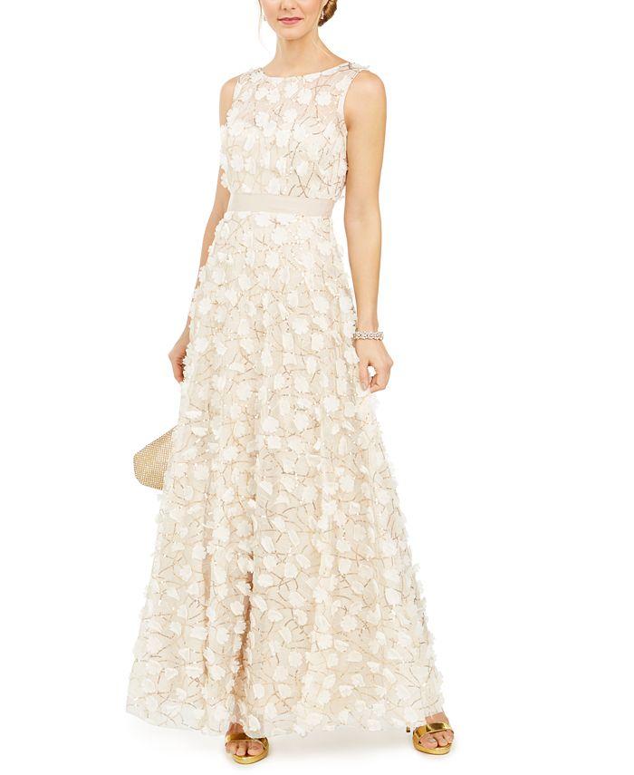 Eliza J - Embellished Floral Gown