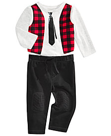 First Impressions Baby Boys Vest T-Shirt & Patch Pants, Created for Macy's