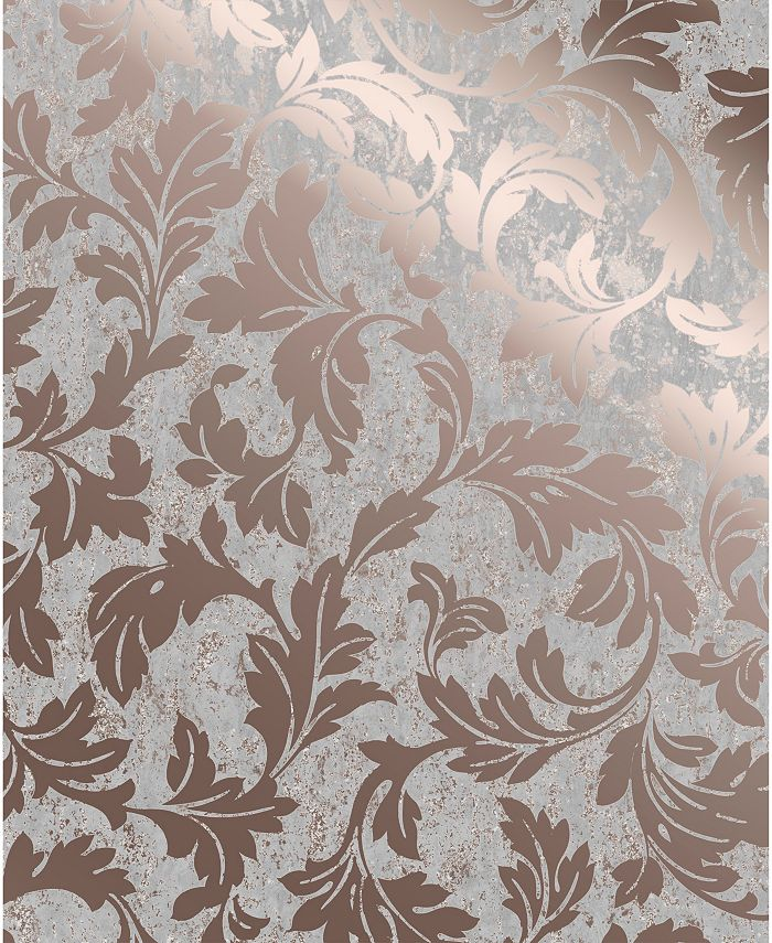 Graham & Brown - Milan Scroll Taupe and Gold Wallpaper