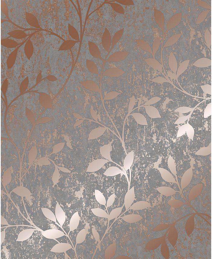 Graham & Brown - Milan Trail Silver and Grey Wallpaper