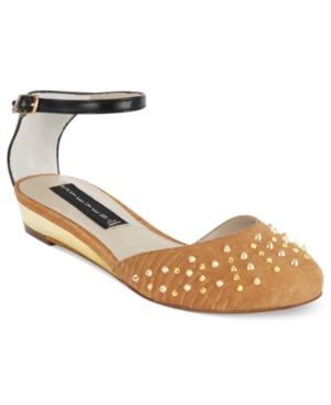 STEVEN by Steve Madden Shoes Paisly Ankle Strap Flats Womens Shoes