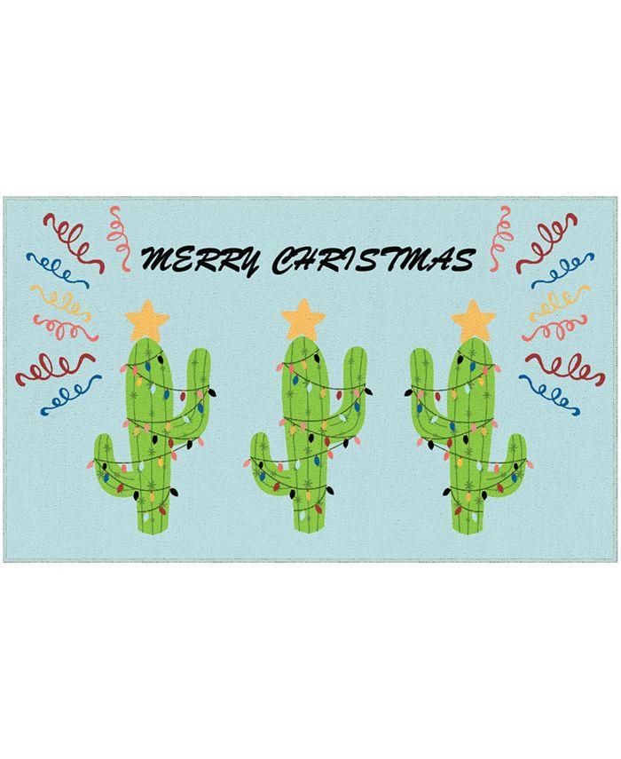 "Mohawk - Christmas Cactus Accent Rug, 24"" x 40"""