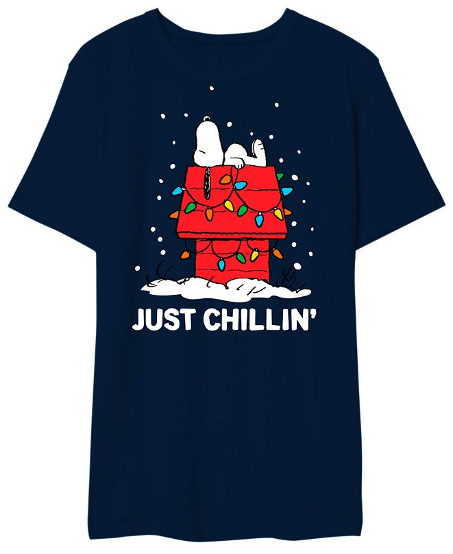 Hybrid Just Chillin Snoopy Men's Graphic T-Shirt