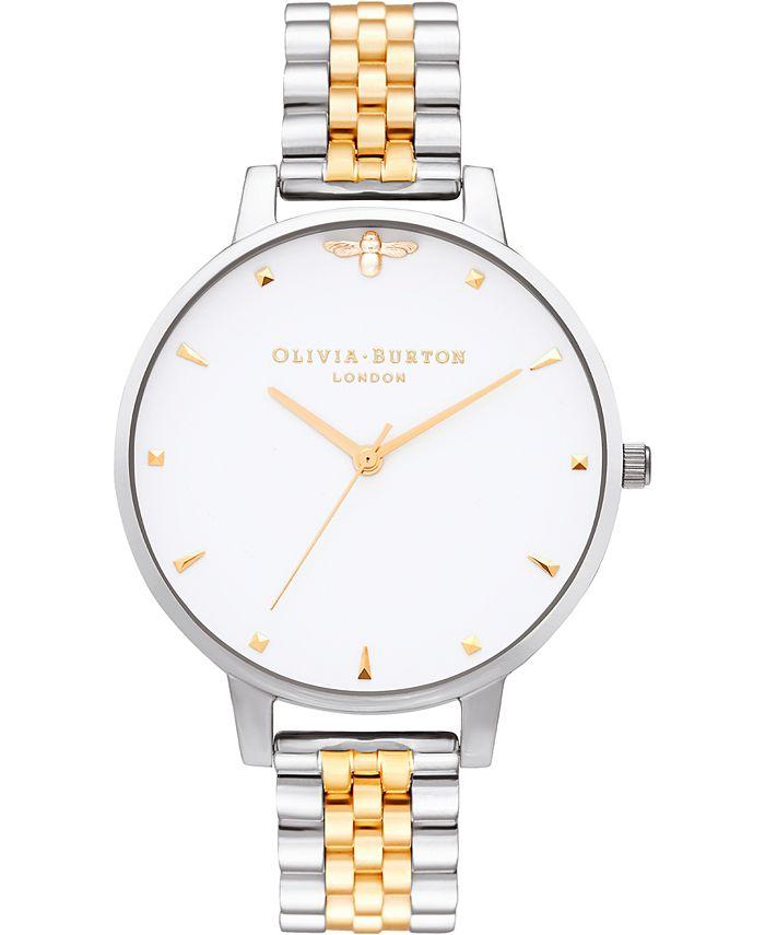 Olivia Burton - Women's Queen Bee Two-Tone Stainless Steel Bracelet Watch 38mm