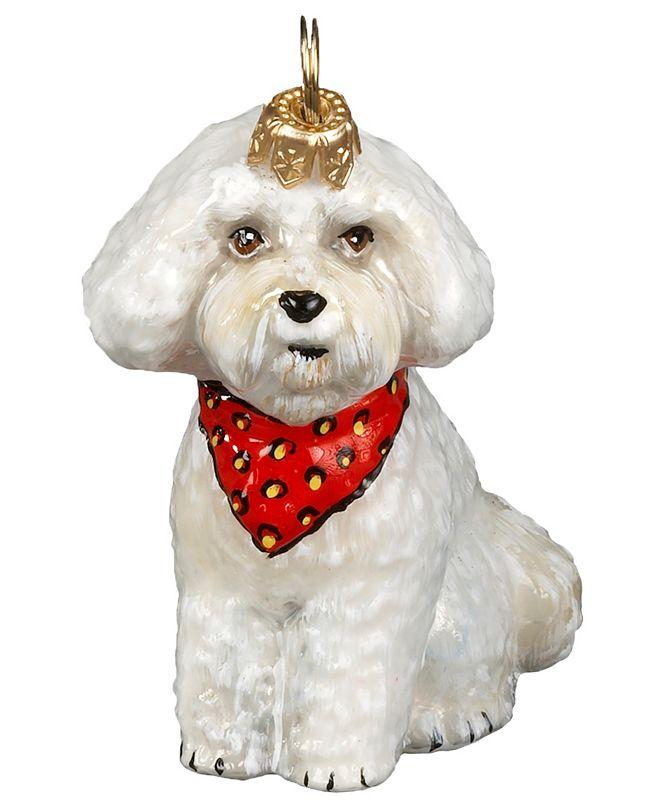 Joy to the World Bichon Puppy w/ Bandana