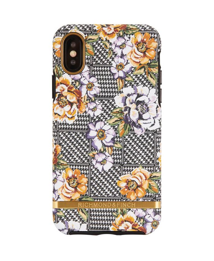 Richmond&Finch - Floral Tweed Case for iPhone X and Xs