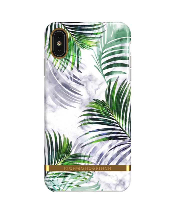 Richmond&Finch - White Marble Tropics Case for iPhone XS MAX