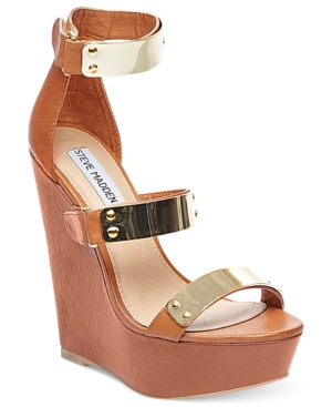 Steve Madden Shoes Whitneyy Platform Wedge Sandals Womens Shoes
