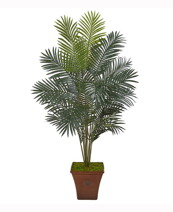 Nearly Natural - 65in. Paradise Palm Artificial Plant in Brown Planter