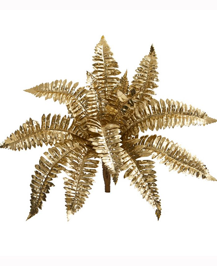 Nearly Natural - 18in. Metallic Boston Fern Artificial Plant Set of 12