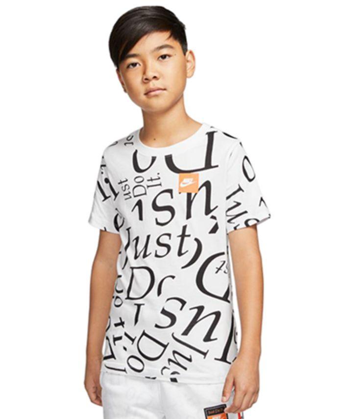Nike - Big Boys Logo-Print Cotton T-Shirt