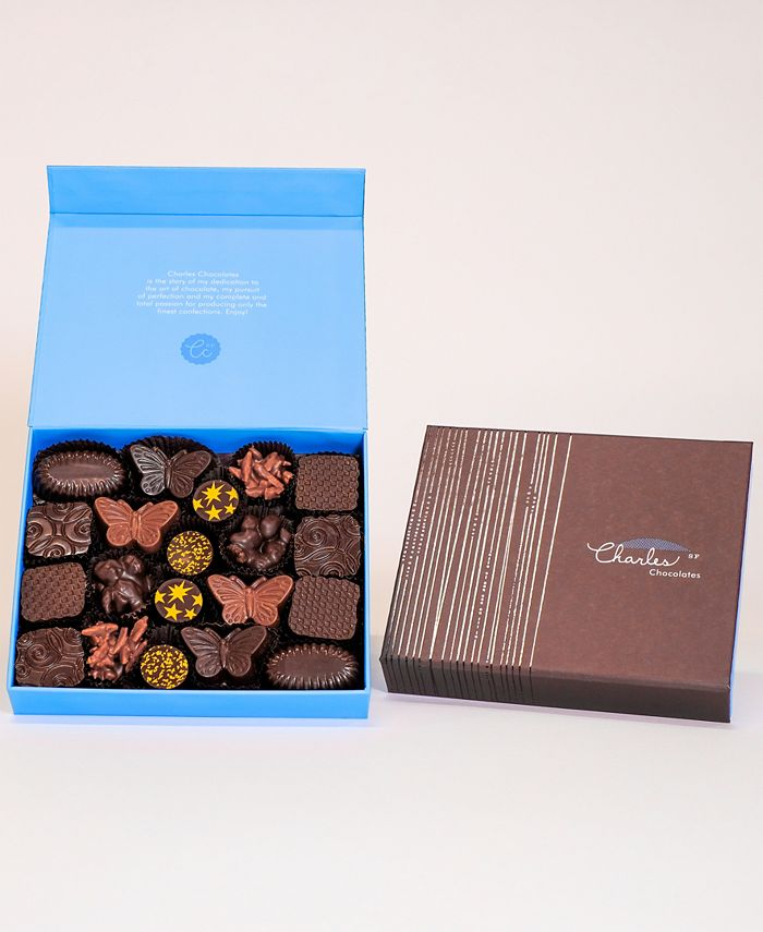 Charles Chocolates - Nuts, Pralines & Caramels Collection, Large Box (20 piece)