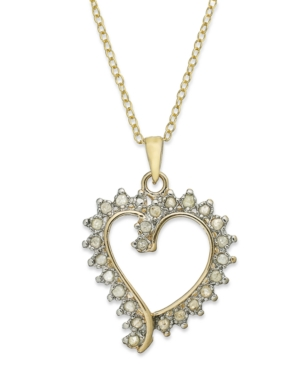 Victoria Townsend 18k Gold over Sterling Silver Necklace, Diamond Open Heart Pendant (1/4 ct. t.w.)