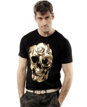 Marc Ecko Cut  Sew Shirt ShortSleeve Graphic Skull TShirt