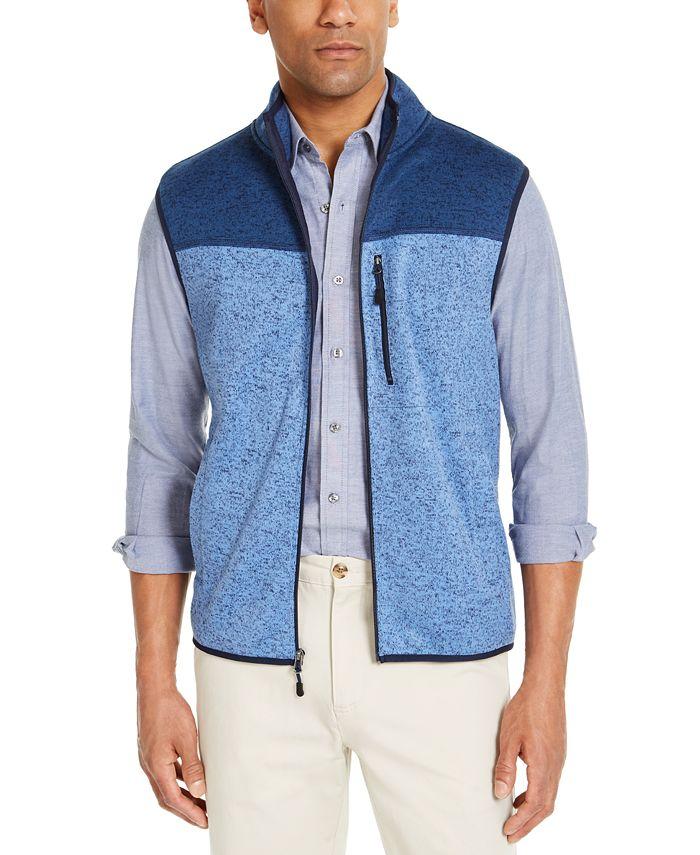 Club Room - Men's Fleece Sweater Vest