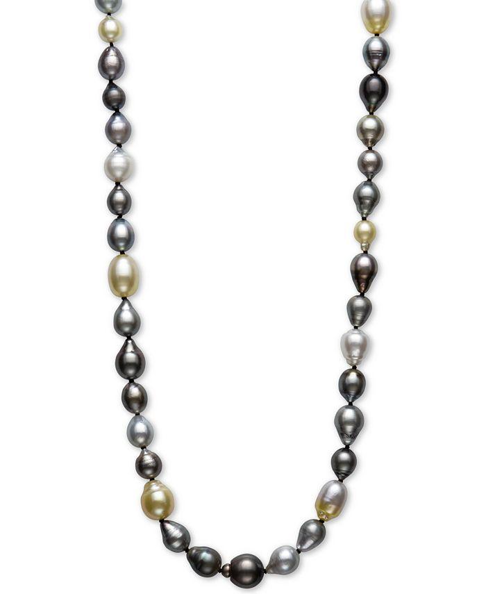 "Belle de Mer - Multicolor Cultured Pearl 34"" Strand Necklace"