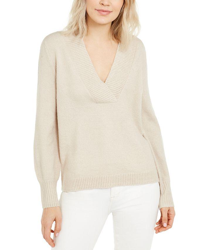 INC International Concepts - Deep V-Neck Tunic Sweater