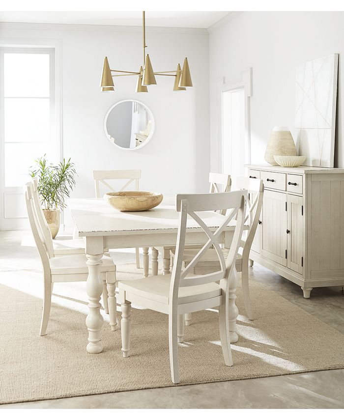 Furniture - Aberdeen Expandable Dining , 7-Pc. Set (Table & 6 Side Chairs)