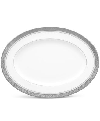 "Summit Platinum Oval Platter, 12"""