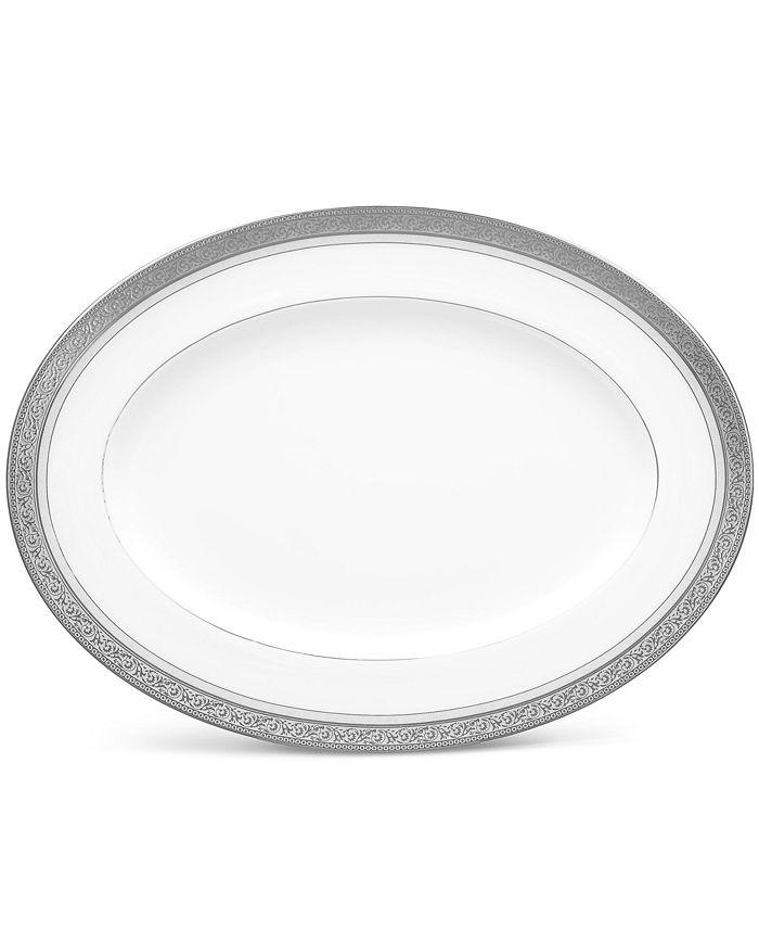 "Noritake - Summit Platinum Oval Platter, 12"""