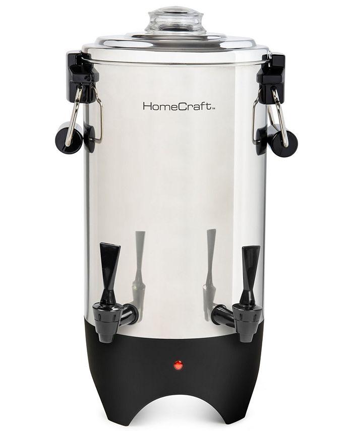 HomeCraft - CUDS45SS Quick-Brewing 1000-Watt Automatic 45-Cup Coffee Urn, Stainless Steel