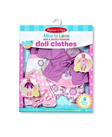 Melissa and Doug Mine to Love Mix and Match Fashion Doll Clothes
