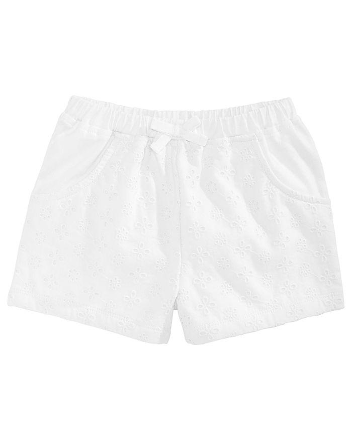 First Impressions - Baby Girls Eyelet Shorts
